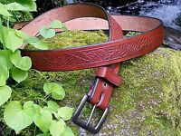 HANDCRAFTED VINTAGE SEQUOIA CONE NATIONAL PARKS Bridle leather ONE OF A KIND!