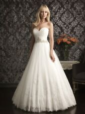 Allure Bridals 9014 Wedding Dress ~ Ivory ~ Sz 10 ~ A-Line Ball Gown
