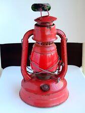 Vintage Dietz Little Wizard Red Globe Kerosene Oil Lantern Lamp