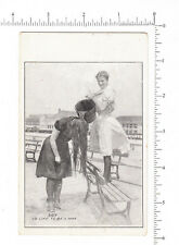 4981 I'd Like To Be A Man 1905 postcard, 2 women American eagle logo