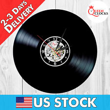 NEW Vinyl Record Wall Clock Vintage Decor Home Gift Designer LP Antique Classic