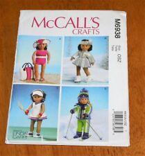 "Mc Calls Pattern #6938 - 18"" Dolls Fashion Outerwear New Tennis, Swim, Skate"