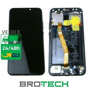 DISPLAY HUAWEI MATE 20 LITE ORIGINALE SERVICE PACK LCD TOUCH BATTERIA FRAME NERO