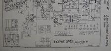 LOEWE OPTA Typ 557 W  WPh Luna Phono Schaltplan Ausgabe 1, Stand 11/54