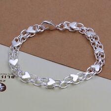 """Women's Mens Unisex 925 Sterling Silver Bracelet 8"""" L23"""