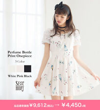 Genuine Secret Honey Perfume Bottle Print One Piece Dress Black BNWT