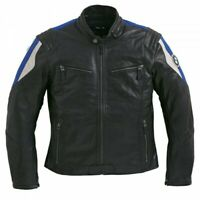 New BMW Club Leather Jacket Men's S Black/Blue #76129899221