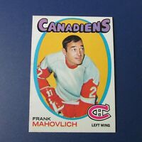 FRANK MAHOVLICH 1971-72 TOPPS  # 105 Montreal Canadiens  Detroit Red Wings NM/MT