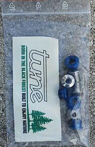 Tune Kxx Chainring Bolts Set 4 stück Blue +4 Titanium Screw Sram Xx