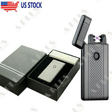 Dual Arc Electric USB Lighter Plasma Rechargeable Windproof Flameless Cigarette