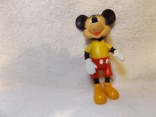 """Vintage Disney-Mickey Mouse Doll w/ Bending Arms & Legs-5 3/4"""" Tall-Very Nice"""