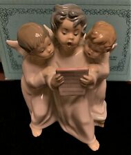 "Lladro 4542 Group of Angels Porcelain 7"" Figurine Mint Retired"