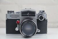 MIRANDA SLR 35mm Film Camera +  Leather Case + Flash ***** Excellent Condition!