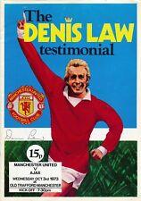 MANCHESTER UNITED v Ajax (Denis Law Testimonial) 1973