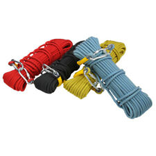 Strong 20M Rock Climbing Rope Rappelling 10.5mm Dia Safety Survival Rope Set