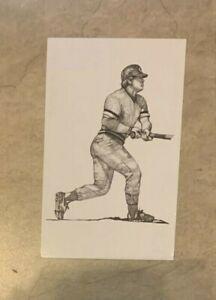 Pete Rose Cincinnati Reds Postcard 1989 Ted Williams Thumper Litho Baseball