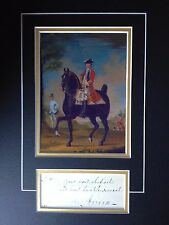 GENERAL WILLIAM KERR - ARMY OFFICER - BATTLE OF CULLODEN - SIGNED COLOUR DISPLAY