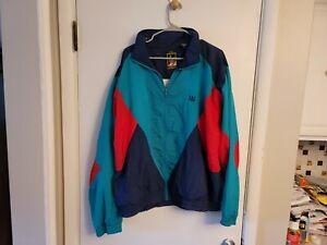 Vintage USA Olympic Men SZ  XLarge JcPenney Nylon Color Block Windbreaker Jacket
