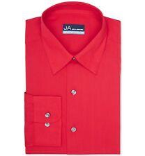 Nwt $95 John Ashford Men'S Regular-Fit Red Long-Sleeve Dress Shirt 17-17.5 34/35