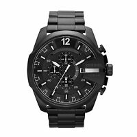 NEW DIESEL DZ4283 MENS BLACK MEGA CHEIF CHRONOGRAPH WATCH - 2 YEAR WARRANTY