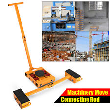 8T Industrial Heavy Machinery Mover Q235 Steel Powder-Coat Finish Roll Smoothly