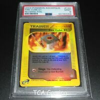 PSA 9 MINT Fire Cube 01 122/147 Aquapolis Set REVERSE HOLO Pokemon Card