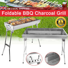 Folding BBQ Charcoal Barbecue Grill Camping Picnic Cooking Stainless Steel Stove