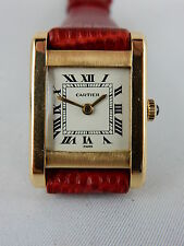 Cartier Paris Tank 750 Gold Handaufzug Damenuhr