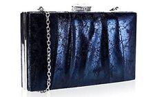 Black Hard Case Box Clutch Bag Evening