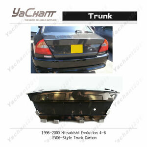 Carbon BootLid For 96-00 Mitsubishi Evolution EVO 4 EVO 5 EVO 6 EVO6-Style Trunk