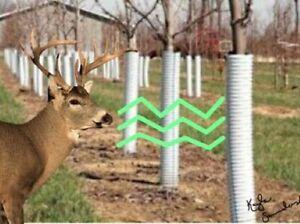 "Pepper Scented Corrugated Tree Guard 36"" high, 3 inch Diameter (2 Pack) USA"
