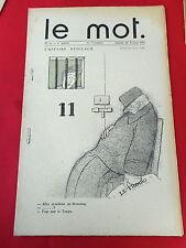 LE MOT N° 11 de 1915 illustré IRIBE & COCTEAU L'AFFAIRE DESCLAUX