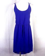 euc Rory Beca blue Strap Dress Tie Off Empire Waist High Low sz S