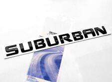 1x OEM Black SUBURBAN Nameplate EMBLEM Letter for GM  Chevrolet Glossy UW