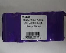 Bombax 6,0V/2500mAh SubC NiCd F5x1 5er Reihe MPX Empfänger
