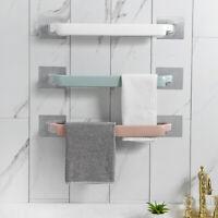 Punch-free Plastic Towel Bar Rack Kitchen Door Hanger Storage Hook Accessories
