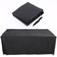 Housses de meubles extérieurs de jardin et de terrasse noir sans marque