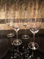 SET OF (4) CRYSTALITE BOHEMIA CZECH REPUBLIC MILVUS RED WINE GLASSES 22 OZ