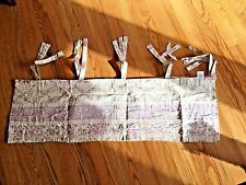 JC Penney Lilac Valance Cream Floral 12 x 80 Tab Top Country ~ NWOT