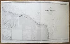More details for 1909 brazil maranham to pernambuco genuine vintage admiralty chart map