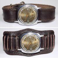Rare montre ancienne mécanique homme ZIM, bracelet neuf, des années 1957 #232183