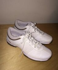 Womens NIKE TAC Traction at Contact Golf Shoes, size 7.5 White Brown Gold