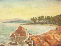 1930 HUILE SUR PANNEAU PAYSAGE DU SUD LA NARTELLE ST MAXIME SIGNEE TESSAIRE