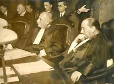 Paris, procès de La Roque, Maitre Creyssel, avocat du colonel  Vintage silver pr