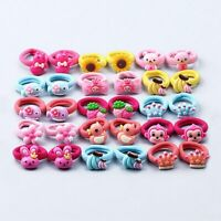 10Pcs/Set Random Candy Color Kids Elastic Hair Rope Rubber Band Girls Hair Ties