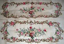 EP 4102 Vintage Floral Sofa Seat Back Set Preworked Design Needlepoint Canvas