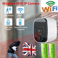 1080P Wireless WiFi CCTV Indoor/Outdoor HD Home IR IP Camera CAM + 2PCS Battery