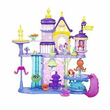 Canterlot And Seaquestria Castle Playset Queen Novo Spike Pufferfish Figures New