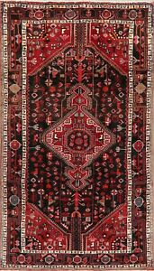 Excellent Geometric Classic Nahavand Area Rug Hand-Knotted Oriental Carpet 5x9