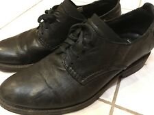 Diesel Mens Black Leather Shoes Size 40 - MADE IN ITALY